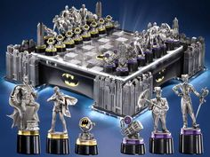 Awesome Batman Chess Set. If I knew how to play chess I'm sure I'd be way more excited about it. . .