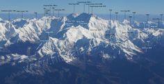 Kangchenjunga | Luftbild des Kangchenjunga-Massivs von Süd-Südwesten