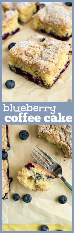 Blueberry Coffee Cake – An incredibly moist coffee cake studded with fresh blueberries, a hint of lemon, and covered with a cinnamon brown sugar crust. The perfect cake for any breakfast or brunch