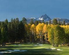 Black Butte Resort near Bend, Oregon is our favorite place to golf.  Mt. Bachelor is in the background.