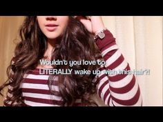IT'S NOT CHEATING: Beautiful Curls with NO Heat or Rollers! (Wake up wit...