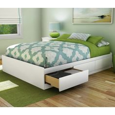 The Full/Double Storage Platform Bed is the perfect combination of style and functionality. This platform bed is not only a beautiful addition to a bedroom, but also serves as the perfect storage space for bed sheets, pillows, and quilts. The Full/Double Storage Platform Bed is made using manufactured wood for sturdiness and durability. It is available in multiple finishes to let you pick the one that is best suited for your bedroom's interiors.