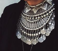 silver tribal necklace - Google Search