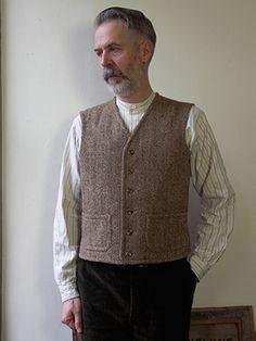 Droit Bord Gilet - Old Town Vêtements - vêtements de travail britannique classique - Holt, Norfolk, Angleterre