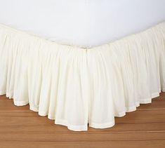 Voile Bed Skirt #potterybarn