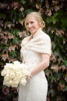 Art Deco Wedding Wrap Winter Wedding Thick Cover Up Knit Wedding Shawl Bolero Ivory Bridal Stole Bridal Capelet Ivory Bridal Shawl