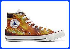 Schuhe Custom Converse All Star, personalisierte Schuhe (Handwerk Produkt customized) Fire - size EU 46