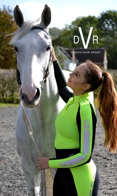 www.dvrequestrian.com #greyhorse #baselayer #fluorescent #sportswear #activewear #contrast #ponytail #brunette #quarterzip #technicalwear #ridingwear #equestrianwear #equestrian #equestrianfashion #equestrianstyle Equestrian, Horses, Sports, Silver, Style, Money, Sport, Horse, Hunter Jumper