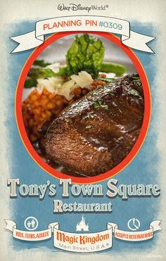 Walt Disney World Planning Pins: Tony's Town Square Restaurant