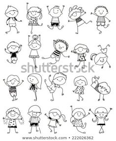 Drawing Sketch - Group Of Kids Royalty Free Cliparts, Vectors, And Stock Illustration. Image Drawing Sketch - Group Of Kids Royalty Free Cliparts, Vectors, And Stock Illustration. Doodle Art Drawing, Drawing For Kids, Drawing Sketches, Art For Kids, Sketching For Kids, Art Children, Children Drawing, Drawing Drawing, Children Clipart