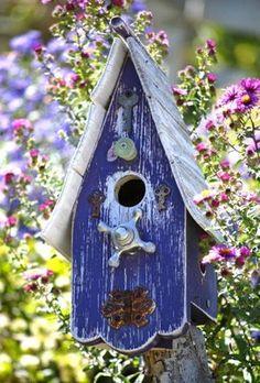 I have a love affair with bird houses.