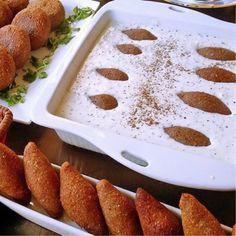 الكبة اللبنية من دون لحم قطع Meat-free kibbeh #vegetarian