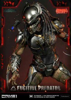Photos and info on Prime 1 Studio's Delux Fugitive Predator statue! - The Predator Movie News Alien Vs Predator, Predator Figure, Predator Action Figures, Predator Movie, Predator Alien, Predator Costume, Shane Black, Ufo, Squad