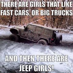 I love my trucks but baby my jeep could kick all there asses