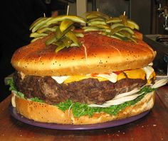 Ginormous burger from the country's craziest eating challenges via The Thrillist