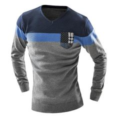 2016 Men'S Fashion Mixed Colors Sweater Men Leisure Slim Pull Homme V-Neck Long-Sleeved Sweater Solid Sweater Sweater Men XXL KF