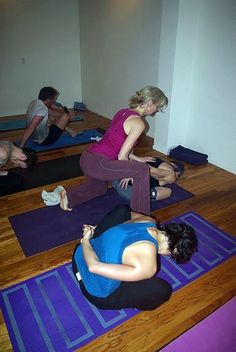 Dana Rae Pare adjusting in Marichy. B (Ashtanga Vinyasa Primary Series)