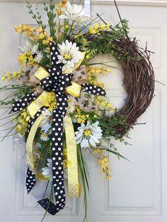 Image result for floral grapevine wreaths