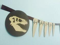 Dinosaur Teeth Birthday Banner Jurassic World by DesignsByRory