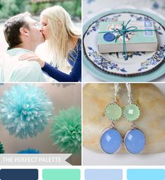 Party Palette | Shades of Blue + Mint! http://www.theperfectpalette.com/2013/08/party-palette-shades-of-blue-mint.html