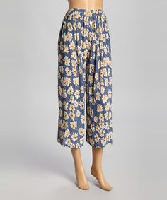 This Blue Daisy Gaucho Pants is perfect, $15 !!   #zulilyfinds