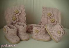 GEMITA CROCHET : CAPOTAS CON BOTITAS, recién nacido , crochet