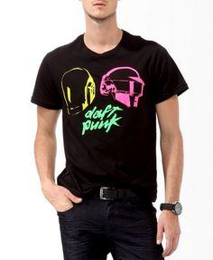 Neon Daft Punk Tee   21 MEN - $16.90