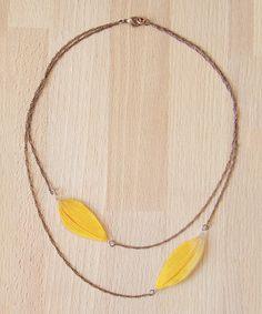 Look what I found on #zulily! Yellow Sunflower Pressed Flower Necklace #zulilyfinds