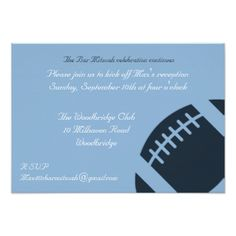 #Bar Mitzvah Reception Card - Football - #sunday #sundays