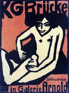 Ernst Ludwig Kirchner - Cartel para 'KG Brücke'