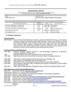 Cv Template Nih Resume Format Free Templates Personal Statement Examples Example
