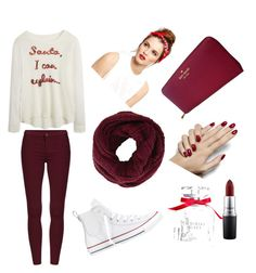 Love the maroon color❤️ by izzyfleenor on Polyvore featuring polyvore, fashion, style, Converse, Kate Spade, BCBGMAXAZRIA, MAC Cosmetics and Victoria's Secret