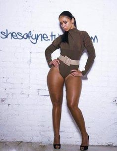 Mya Harrison, never one to be afraid of her curves