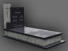 nagrobek 75 Headstone Inscriptions, Tombstone Designs, Grave Monuments, Cemetery Decorations, Granite Stone, Neon Lighting, Funeral, Modern Design, Edd
