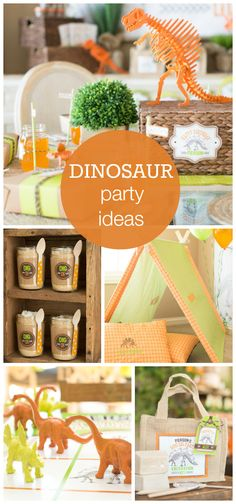Check out this completely amazing dinosaur boy birthday party!  See more party ideas at CatchMyParty.com!