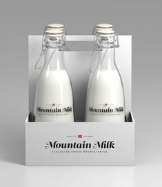 Mountain Milk - Student Design Work by Anders Drage