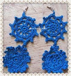 Sweet Nothings Crochet: HANGING CIRCLES EAR RING