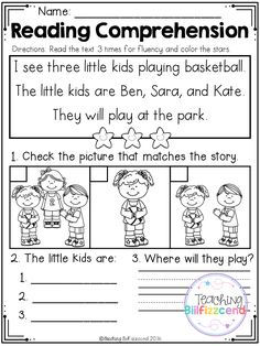 Free read and match reading comprehension for beginning readers set 2 reading worksheets, reading resources. Reading Comprehension Worksheets, Reading Fluency, Reading Passages, Reading Skills, Reading Response, Comprehension Strategies, Free Kindergarten Worksheets, Kindergarten Reading, Reading Activities