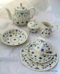 Finlandia 19 pc tea set Churchill & Churchill China Finlandia | Blue u0026 White China..Love it! | Pinterest ...