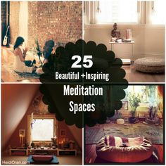 25 Beautiful & Inspiring Meditation Spaces