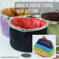 How to make a crochet clip frame We've found some great little (and free) crochet patterns for you to make a little crochet coin purse with a metal frame. Sometimes called a kiss-lock or snap closure, these purses are so pretty and highly addictive to make! They make fantastic gifts for family and friends and great …