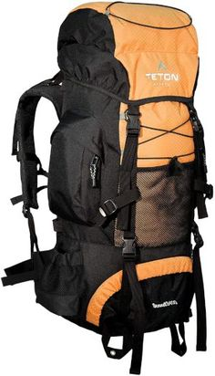 TETON Sports Scout 3400 Internal Frame Backpack, For Backpacking, Camping and Hiking, Orange Camping And Hiking, Camping Gear, Backpacking, Internal Frame Backpack, High Quality Backpacks, Backpack Reviews, North Face Backpack, Mens Fitness, The Incredibles