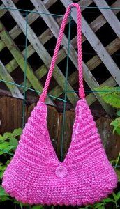 Pink Ribbing Purse