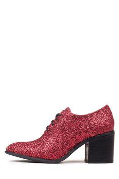 Jeffrey Campbell Shoes WALKEN New Arrivals in Red Glitter