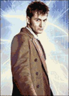 Free David Tennant Doctor Who cross-stitch pattern by Solobacc. This would be complicated...I don't think I'm up to it yet.