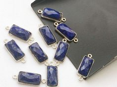 WHOLESALE 10 Pcs Lapis Lazuli Connectors Blue by gemsforjewels