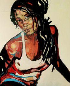 Anna Bocek Illustration t Painting Drawings and Abstract Portrait, Portrait Art, Portraits, Woman Painting, Figure Painting, Painting & Drawing, African American Art, Art Plastique, Face Art