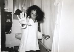 Hutchence strikes a pose for Richard. The pair's friendship got closer as time went on ...