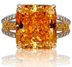The famous Pumpkin Diamond, a fancy, vivid, orange diamond is one of the most famous orange diamonds, with a finished weight of 5.54 carats.