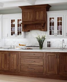Uplifting Kitchen Remodeling Choosing Your New Kitchen Cabinets Ideas. Delightful Kitchen Remodeling Choosing Your New Kitchen Cabinets Ideas. Two Tone Kitchen Cabinets, Refacing Kitchen Cabinets, Farmhouse Kitchen Cabinets, Painting Kitchen Cabinets, Kitchen Cabinet Design, Kitchen Redo, Kitchen Ideas, Dark Wood Cabinets, White Cabinets